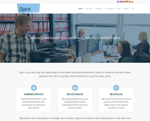 Djent Administratie Barendrecht WordPress Website