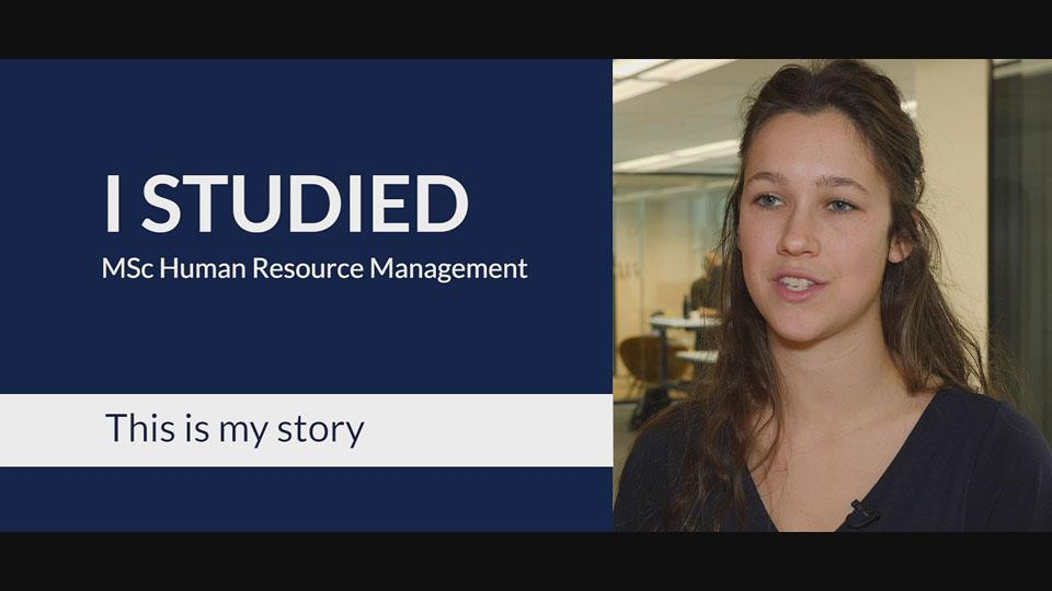 RSM MSc HRM Alumna Video