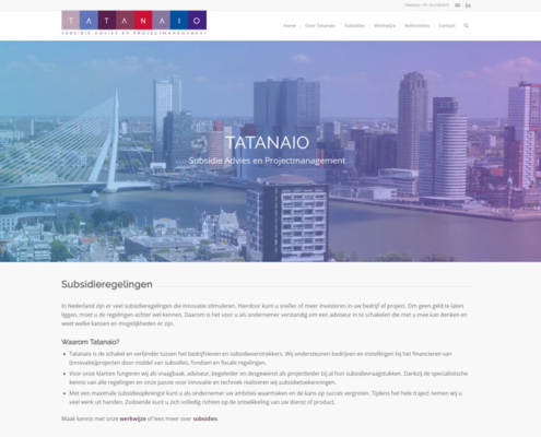 Tatanaio Subsidie Advies en Projectmanagement WordPress Website